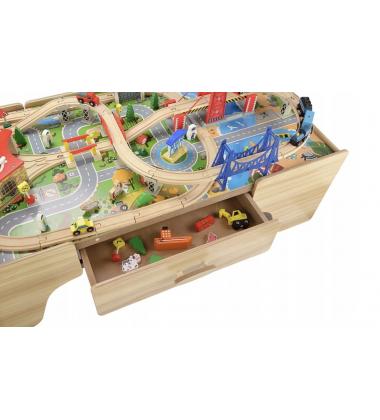 """Medinis žaidimų stalas """"Pasakų miestas"""""""