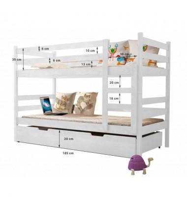 Dviaukštė vaikiška lova Noleru 190x85