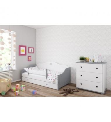 Dvivietė vaikiška lova Love, provanso stilius