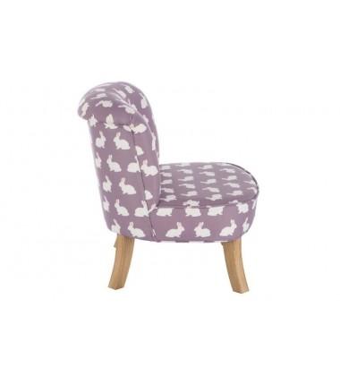 Krėslas violetinis Su Zuikiais