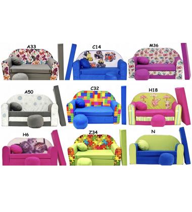 Minkštas fotelis-lova (išskleidžiamas)