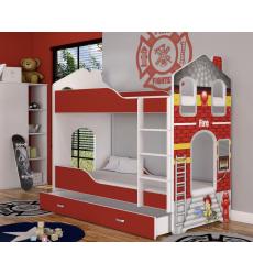 Dviaukštė vaikiška lova Domo