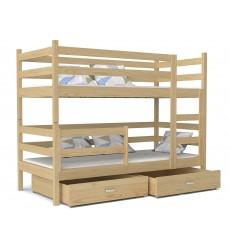 Dviaukštė vaikiška lova Lomo
